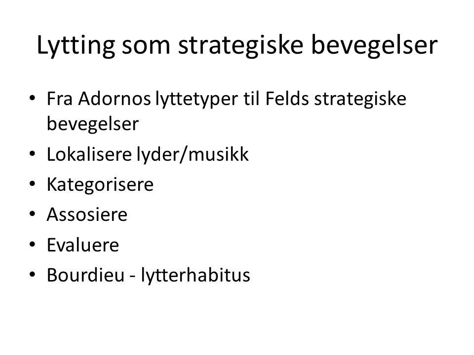 Lytting som strategiske bevegelser