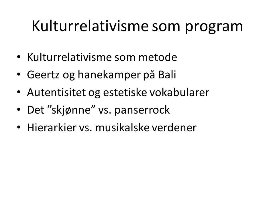 Kulturrelativisme som program