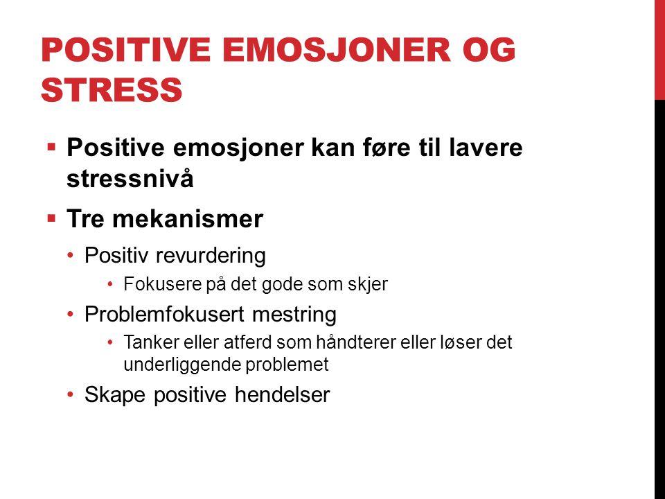 Positive emosjoner og stress