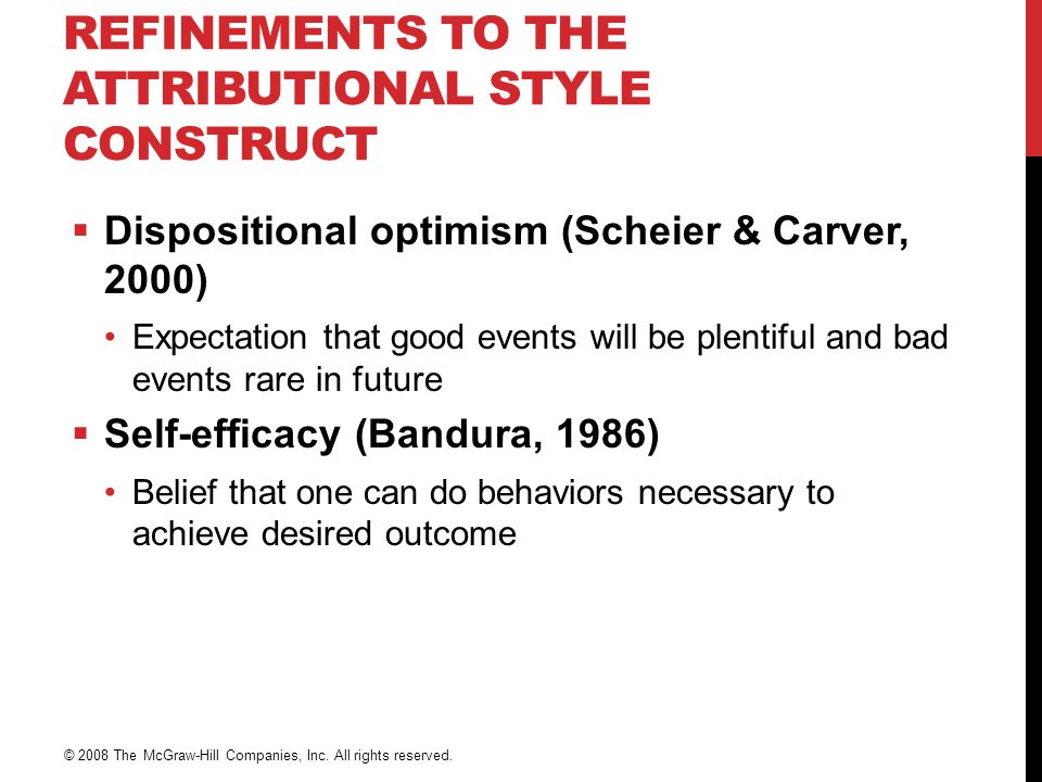 Refinements to the Attributional Style Construct