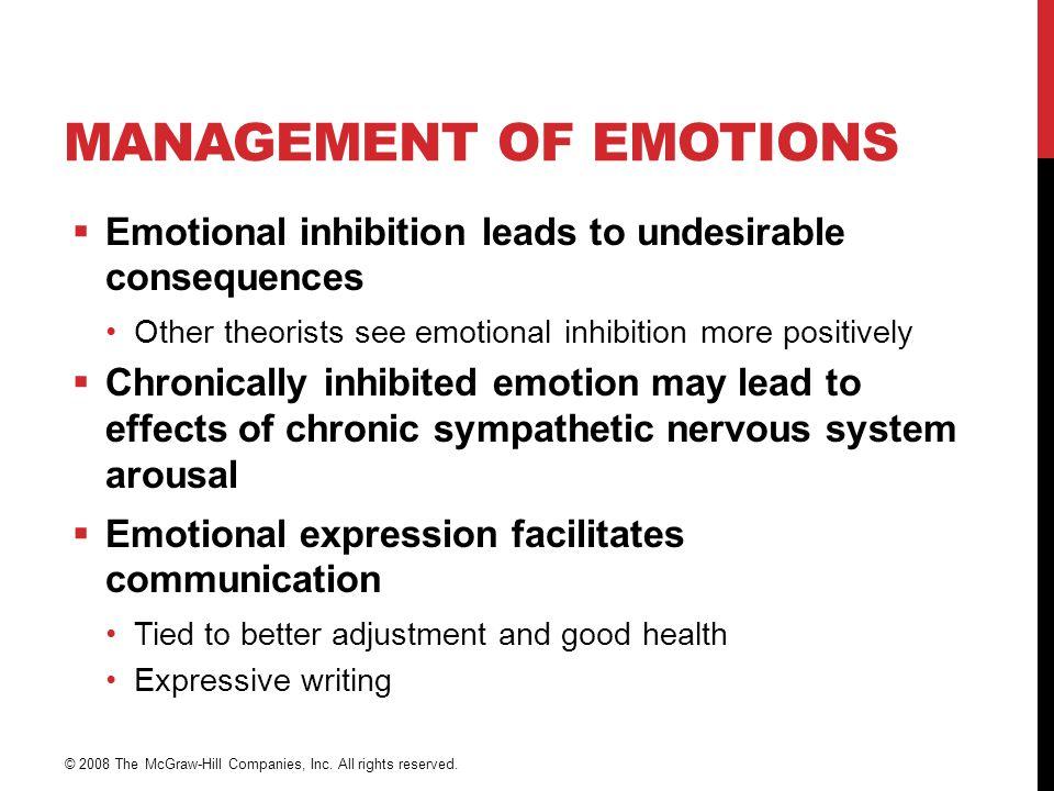 Management of Emotions