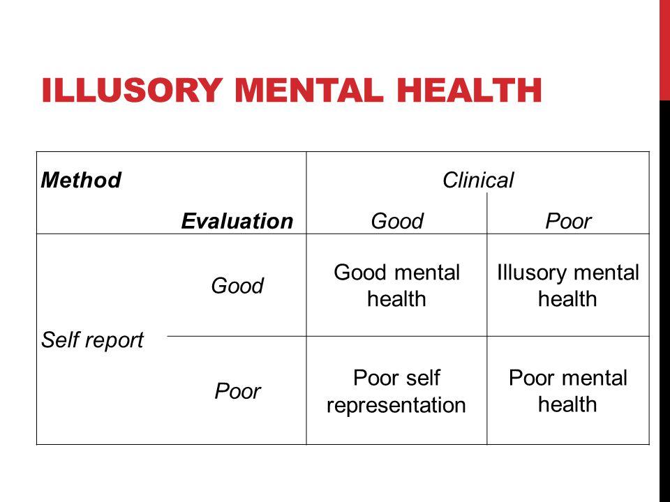 Illusory mental health