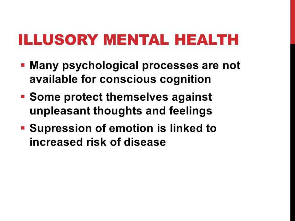 Illusory mental health