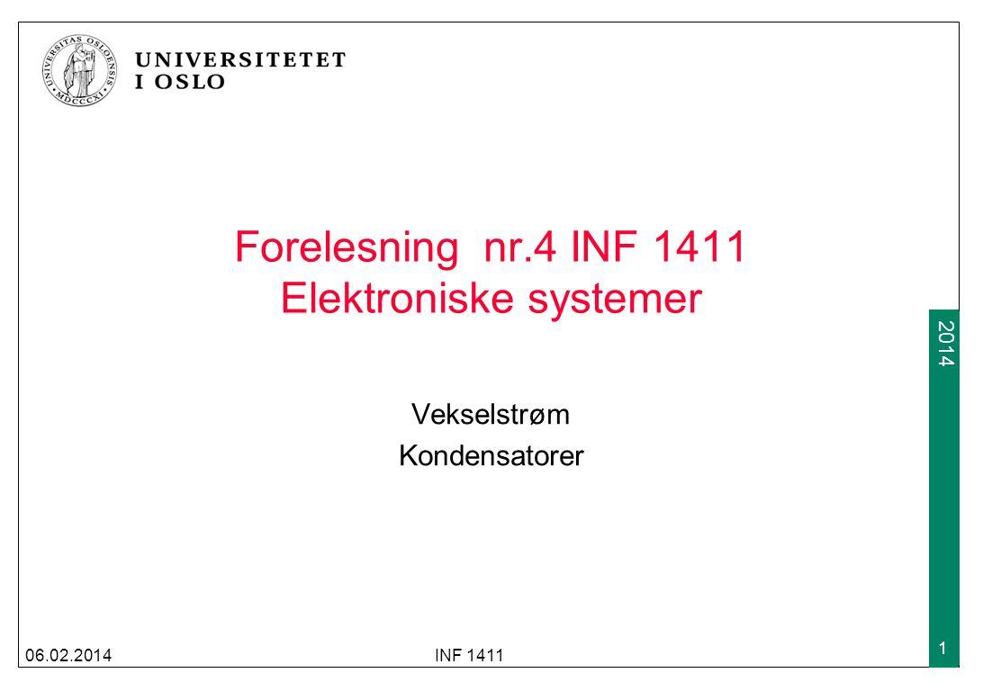 Forelesning nr.4 INF 1411 Elektroniske systemer
