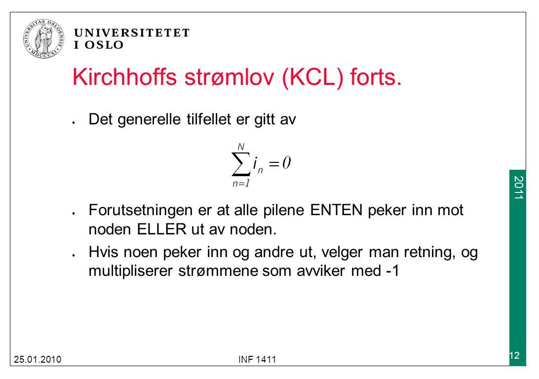 Kirchhoffs strømlov (KCL) forts.