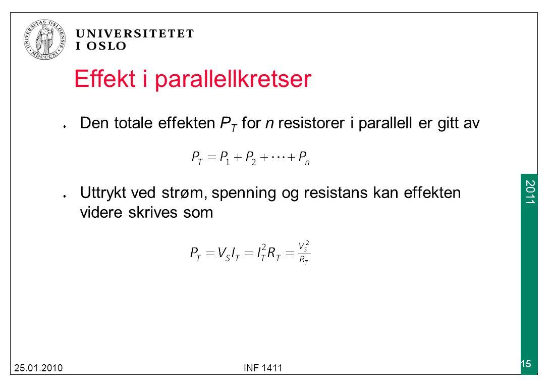 Effekt i parallellkretser