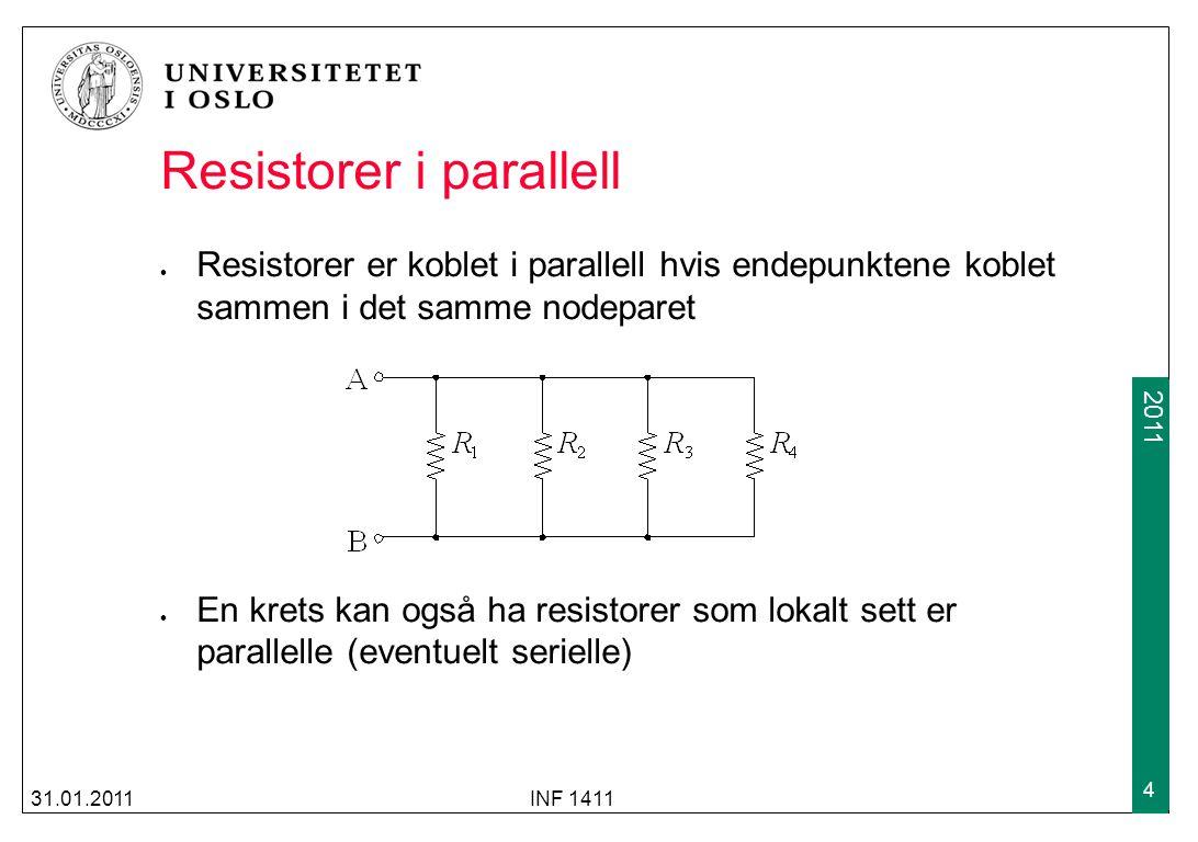 Resistorer i parallell