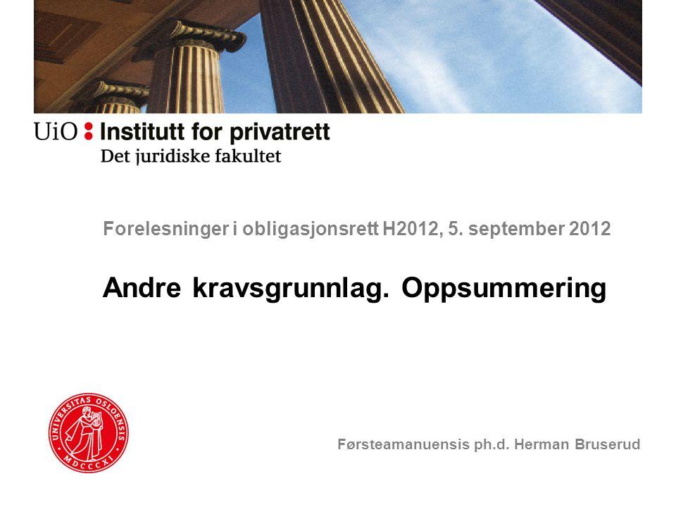 Forelesninger i obligasjonsrett H2012, 5. september 2012
