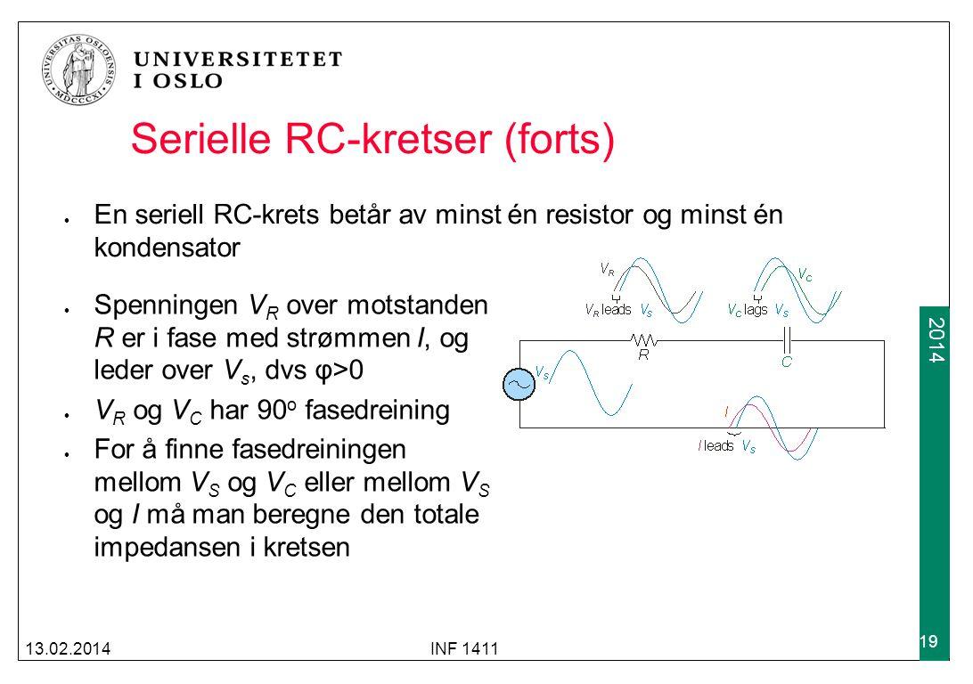 Serielle RC-kretser (forts)