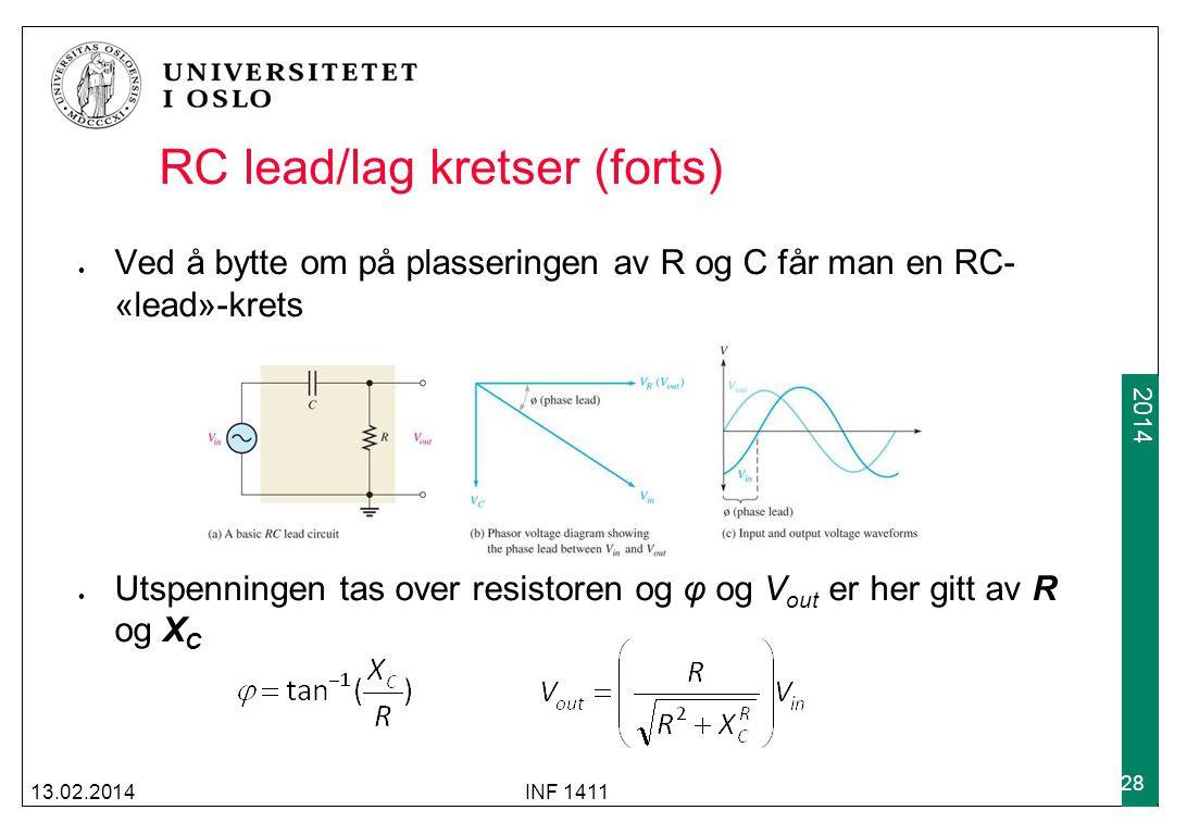 RC lead/lag kretser (forts)