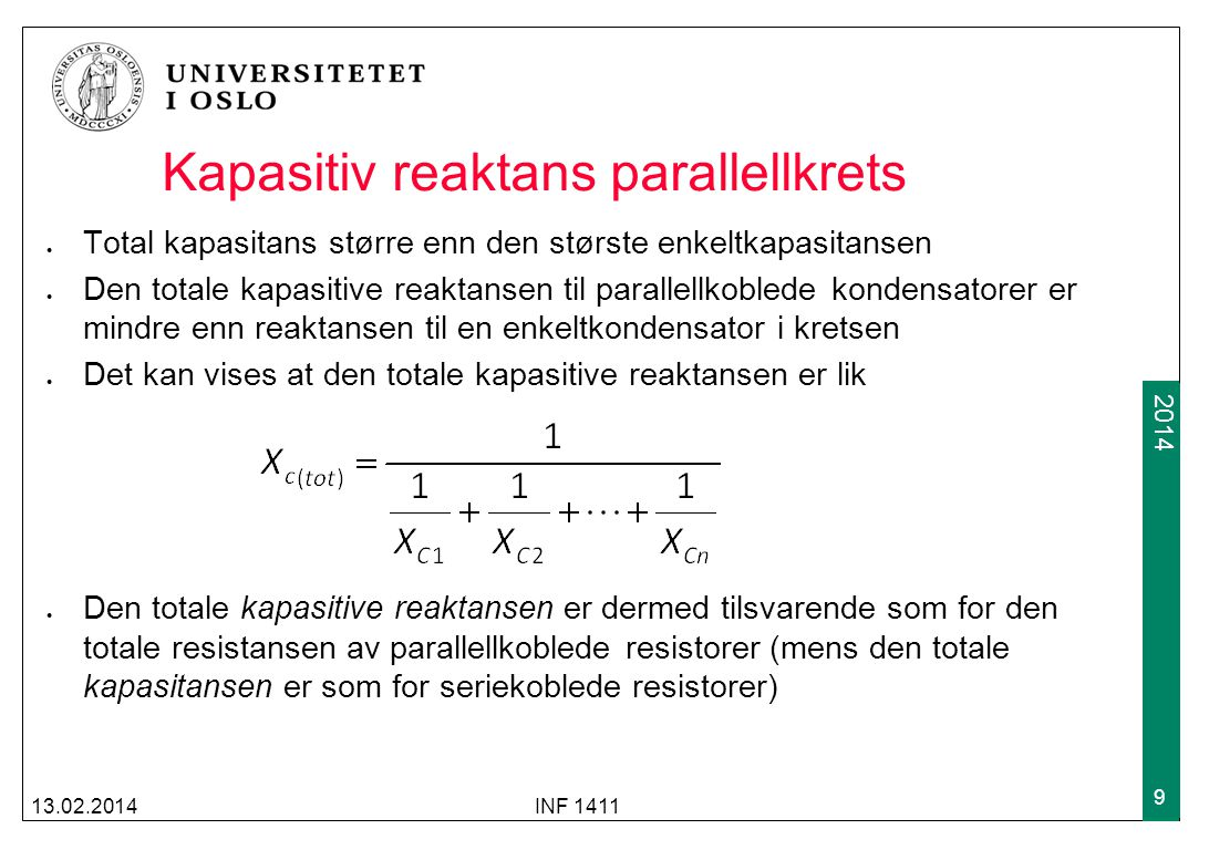 Kapasitiv reaktans parallellkrets