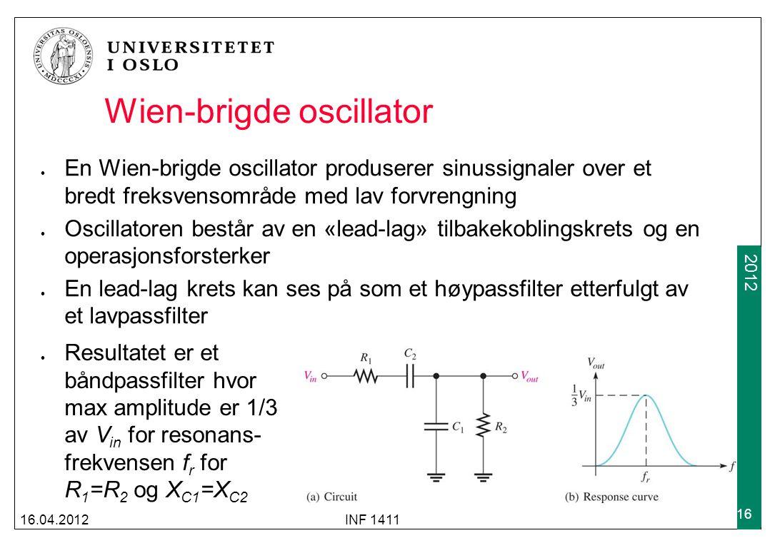 Wien-brigde oscillator
