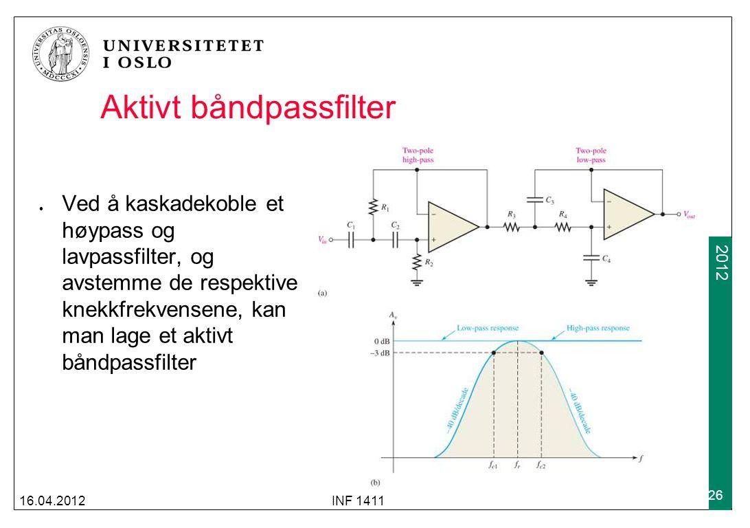 Aktivt båndpassfilter