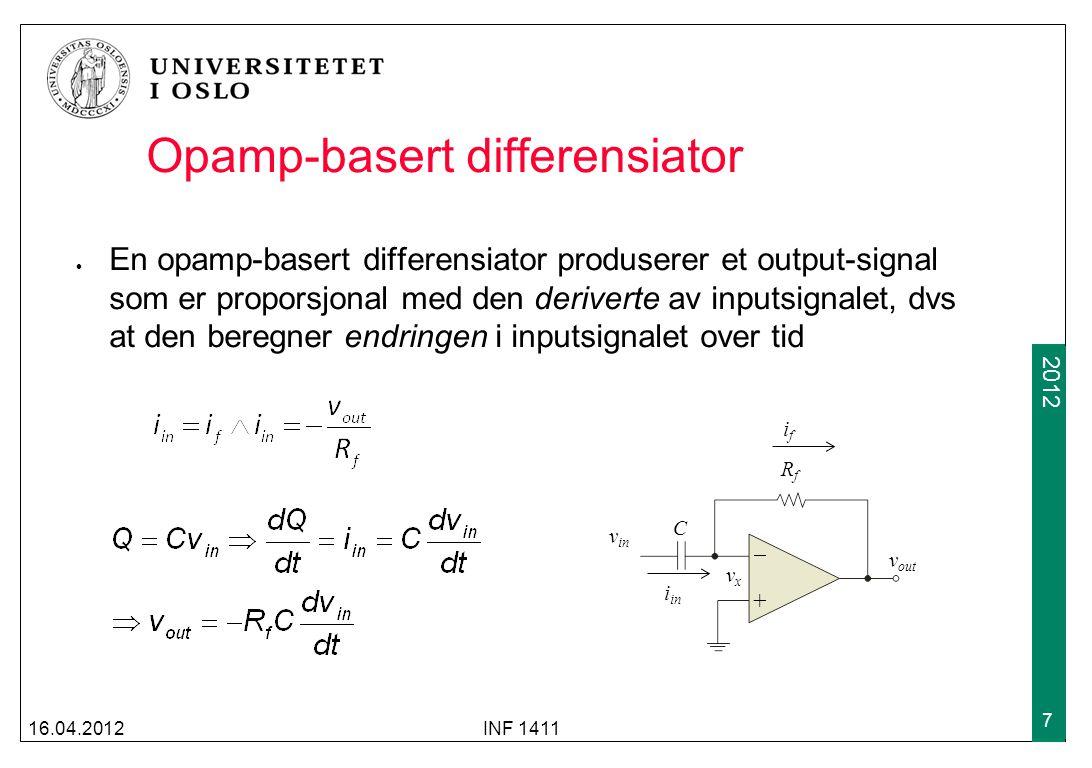 Opamp-basert differensiator