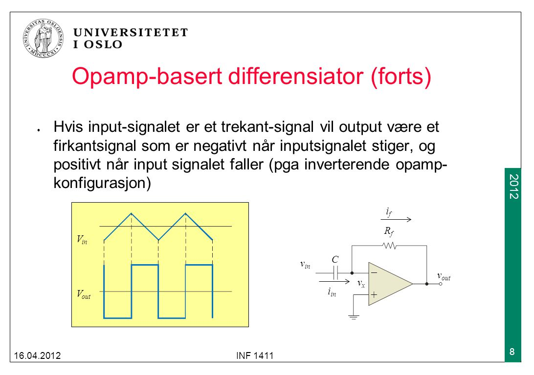 Opamp-basert differensiator (forts)