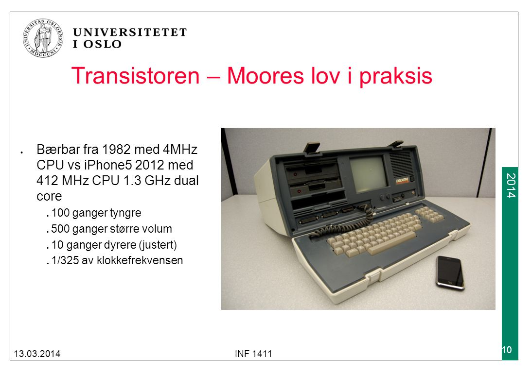 Transistoren – Moores lov i praksis