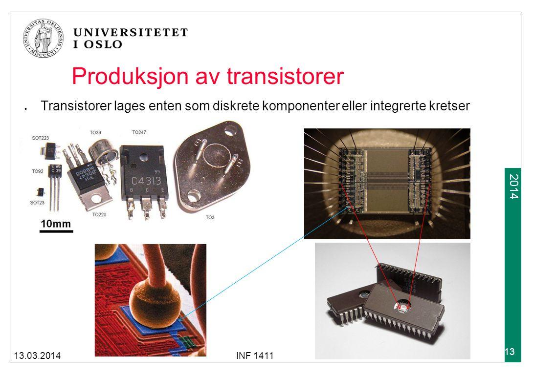 Produksjon av transistorer