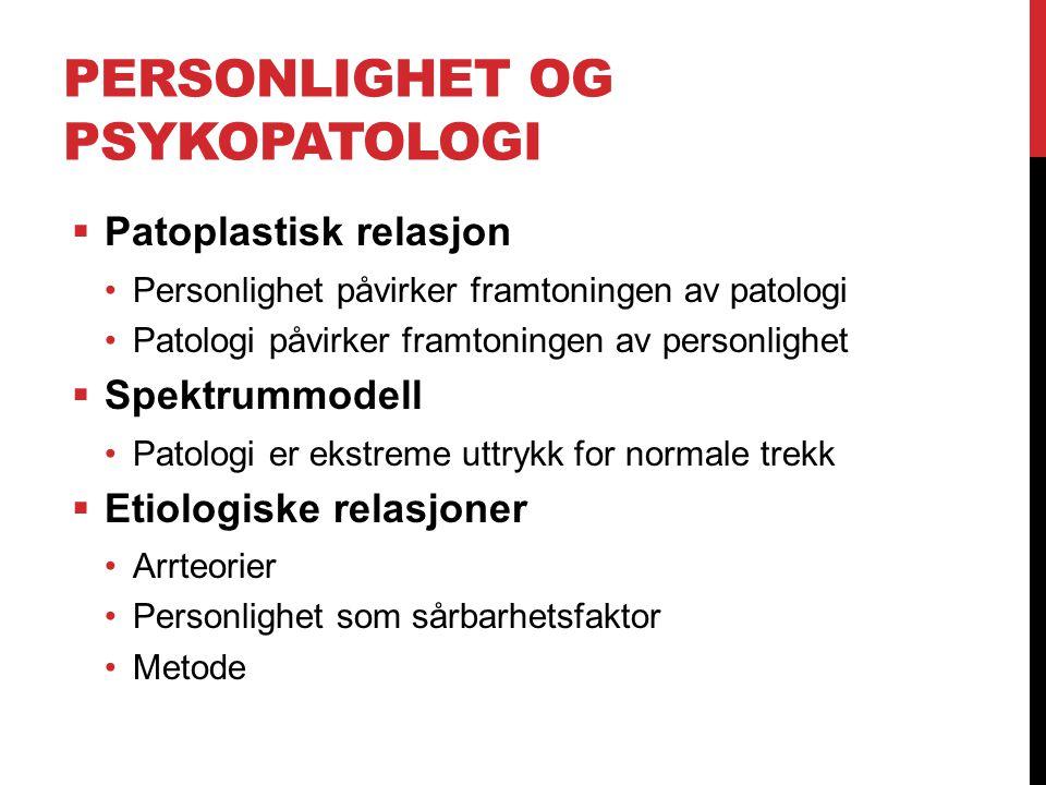 Personlighet og psykopatologi