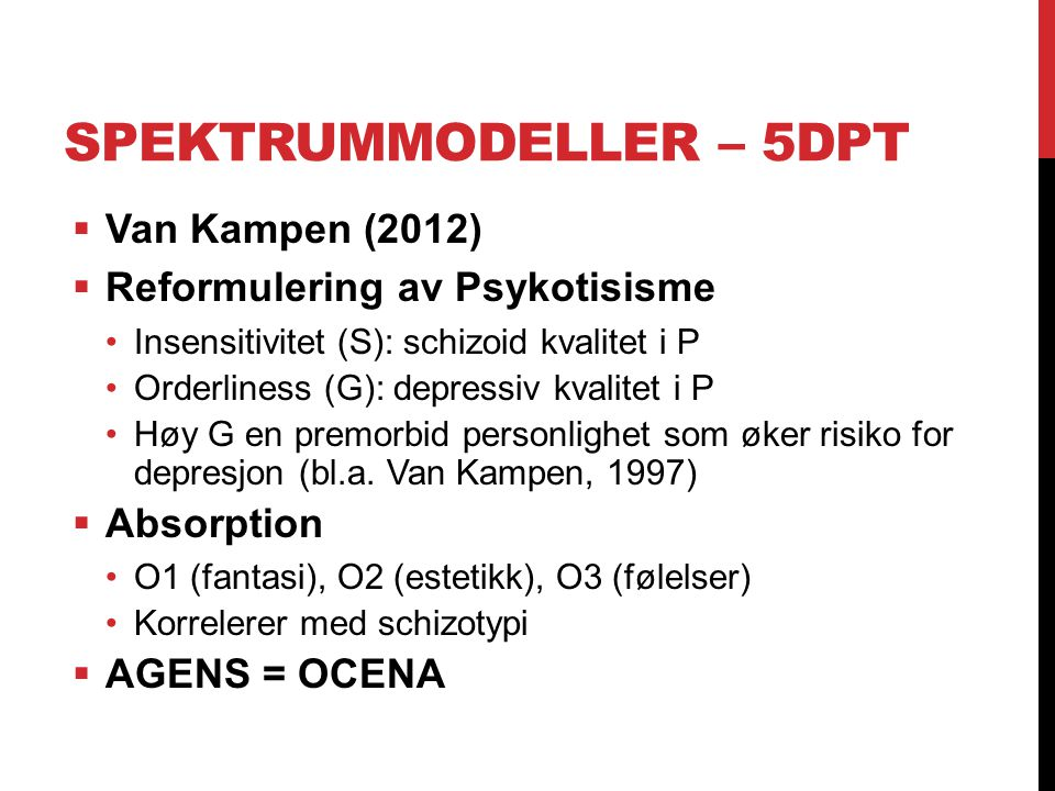 Spektrummodeller – 5DPT