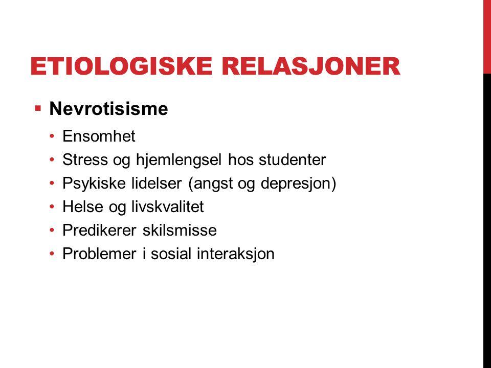 Etiologiske relasjoner