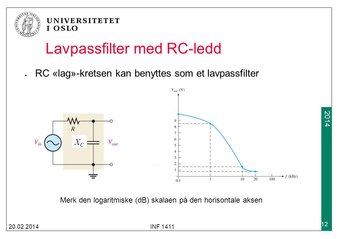 Lavpassfilter med RC-ledd