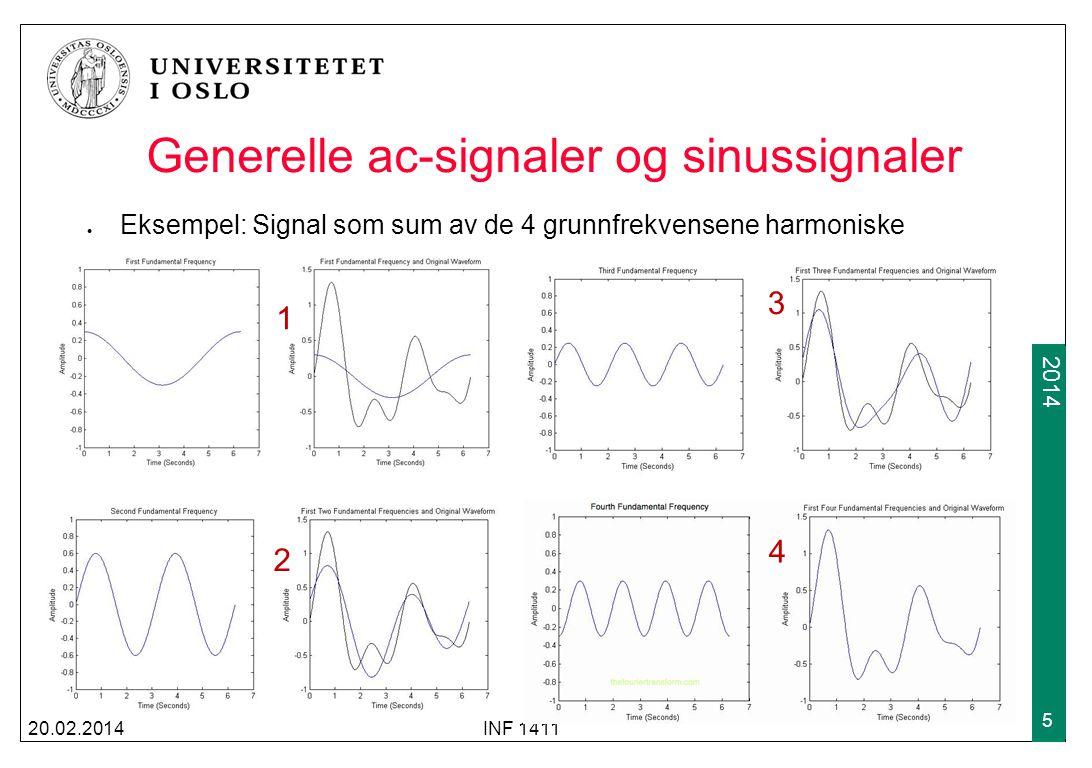 Generelle ac-signaler og sinussignaler