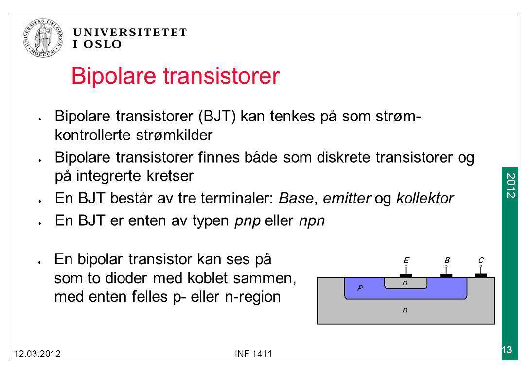 Bipolare transistorer