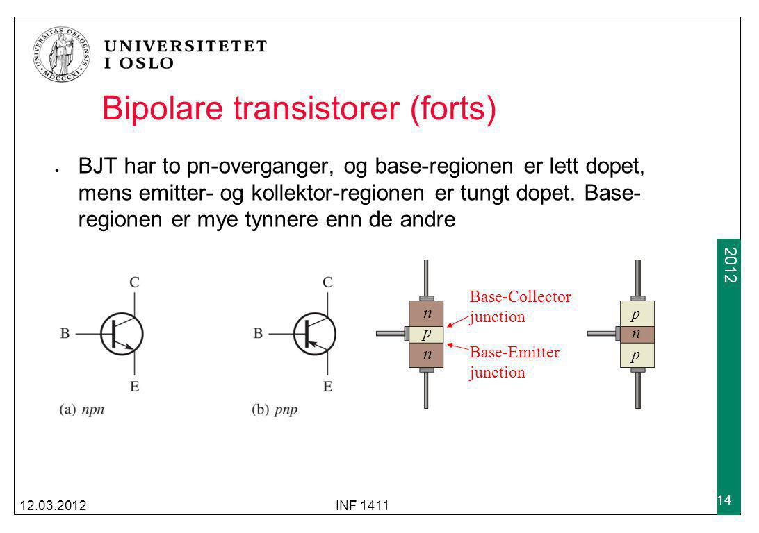 Bipolare transistorer (forts)