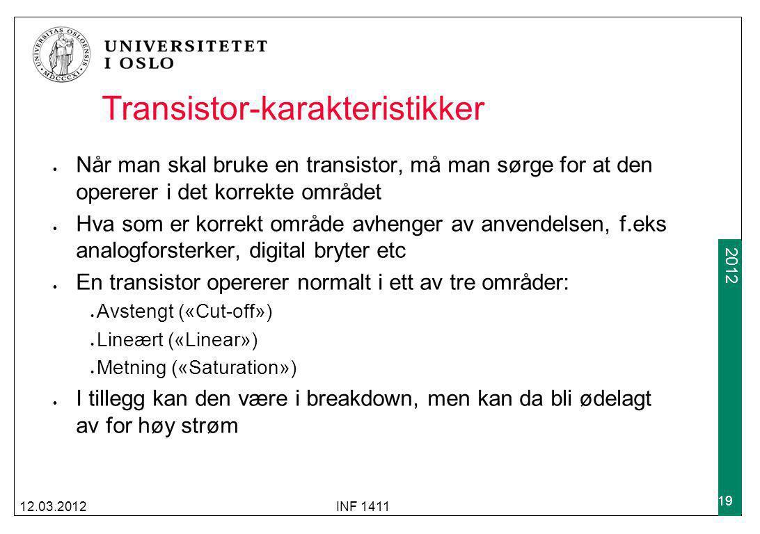 Transistor-karakteristikker