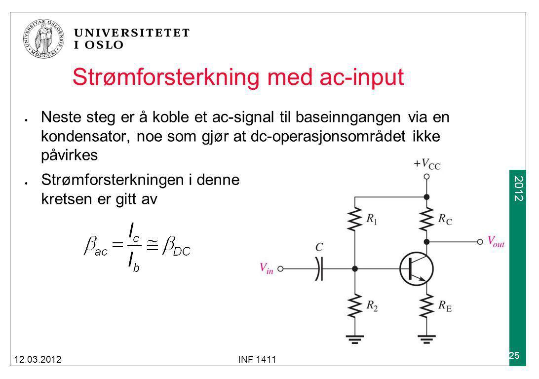 Strømforsterkning med ac-input