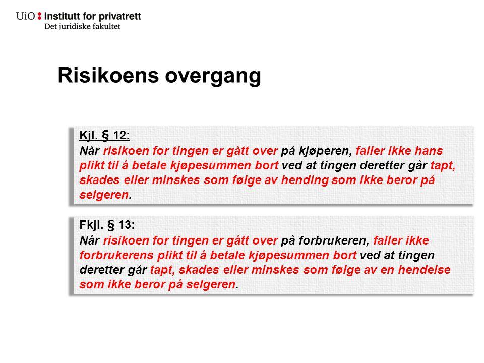 Risikoens overgang Kjl. § 12: