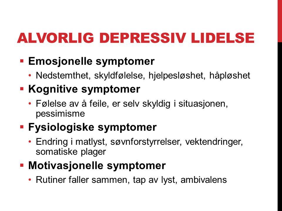 Alvorlig depressiv lidelse