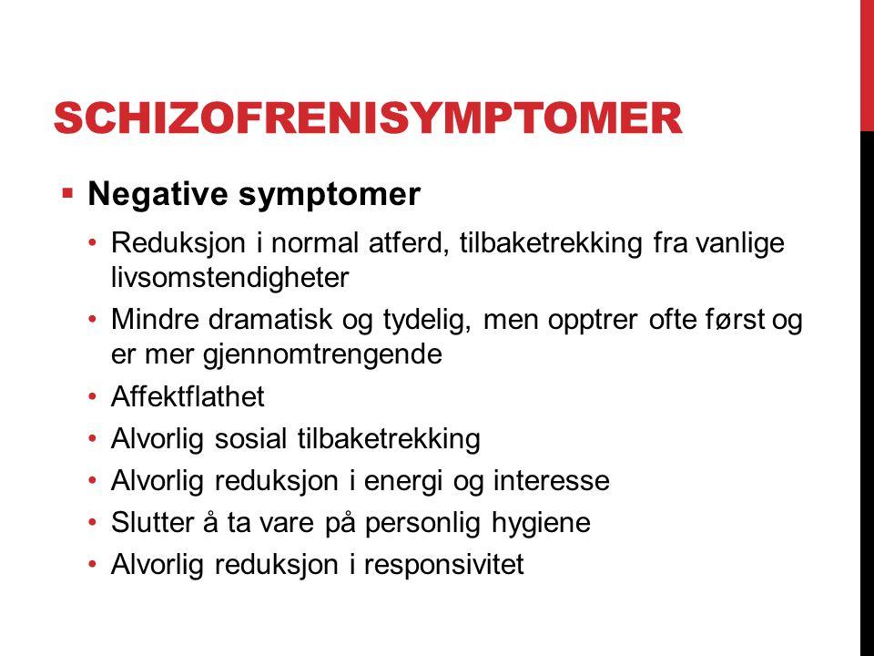 Schizofrenisymptomer