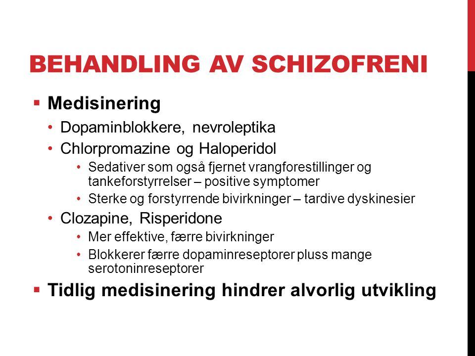 Behandling av schizofreni