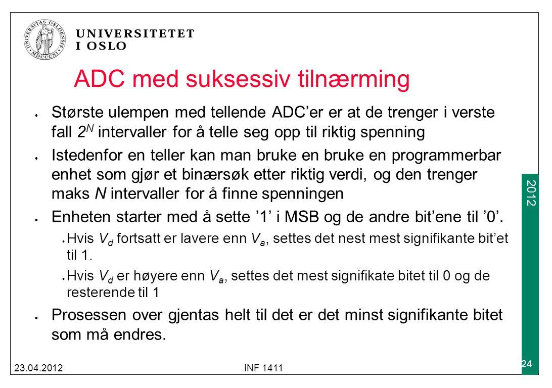 ADC med suksessiv tilnærming