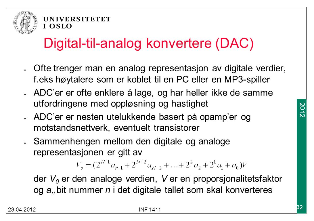 Digital-til-analog konvertere (DAC)