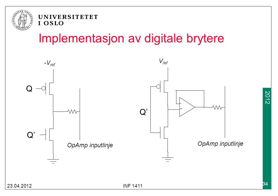 Implementasjon av digitale brytere