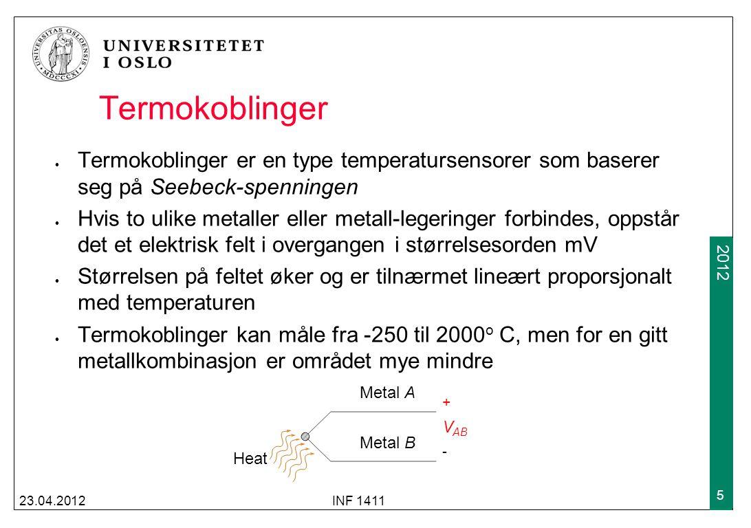 Termokoblinger Termokoblinger er en type temperatursensorer som baserer seg på Seebeck-spenningen.