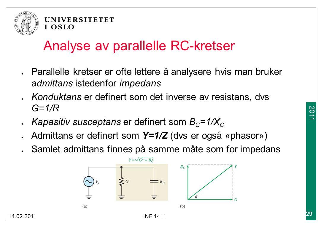 Analyse av parallelle RC-kretser