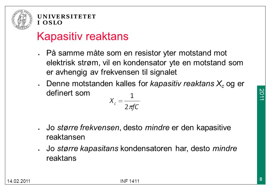 Kapasitiv reaktans