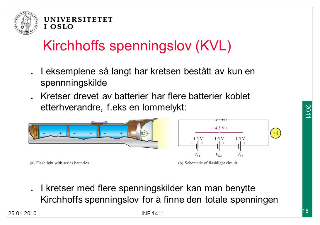 Kirchhoffs spenningslov (KVL)