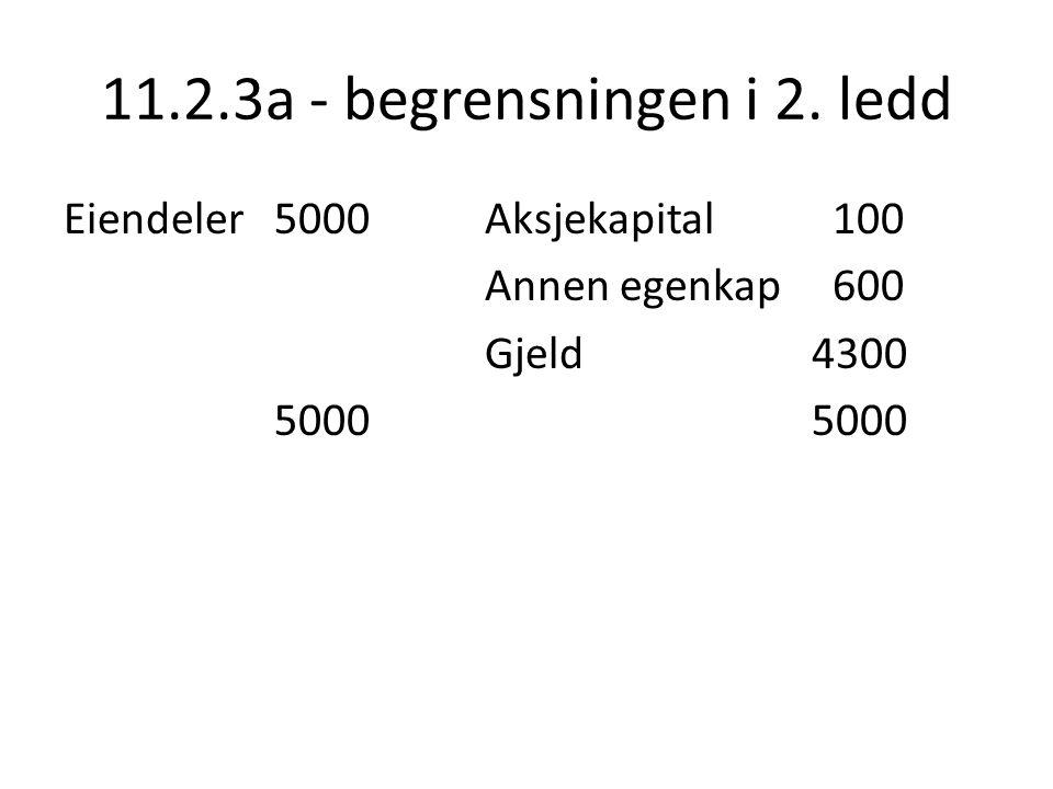 11.2.3a - begrensningen i 2. ledd