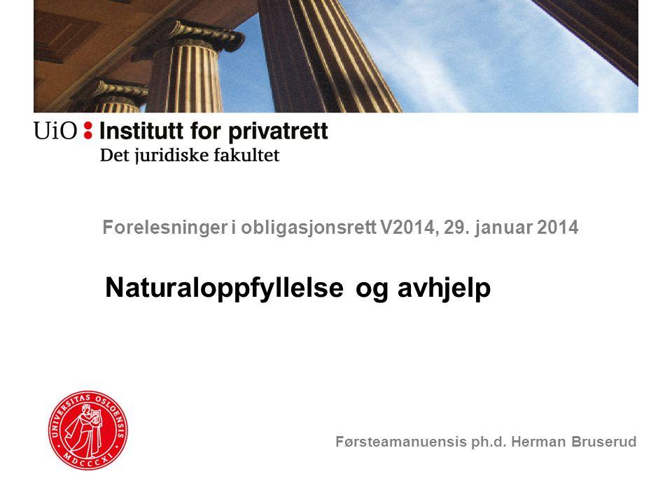 Forelesninger i obligasjonsrett V2014, 29. januar 2014