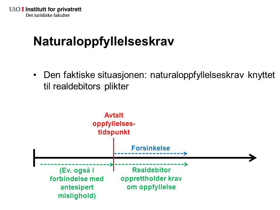 Naturaloppfyllelseskrav