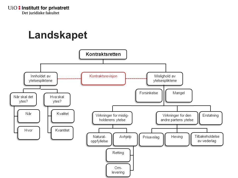 Landskapet Kontraktsretten Innholdet av ytelsespliktene