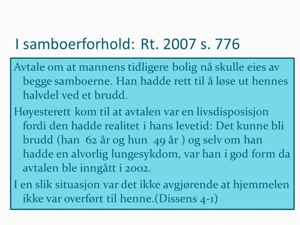 I samboerforhold: Rt. 2007 s. 776