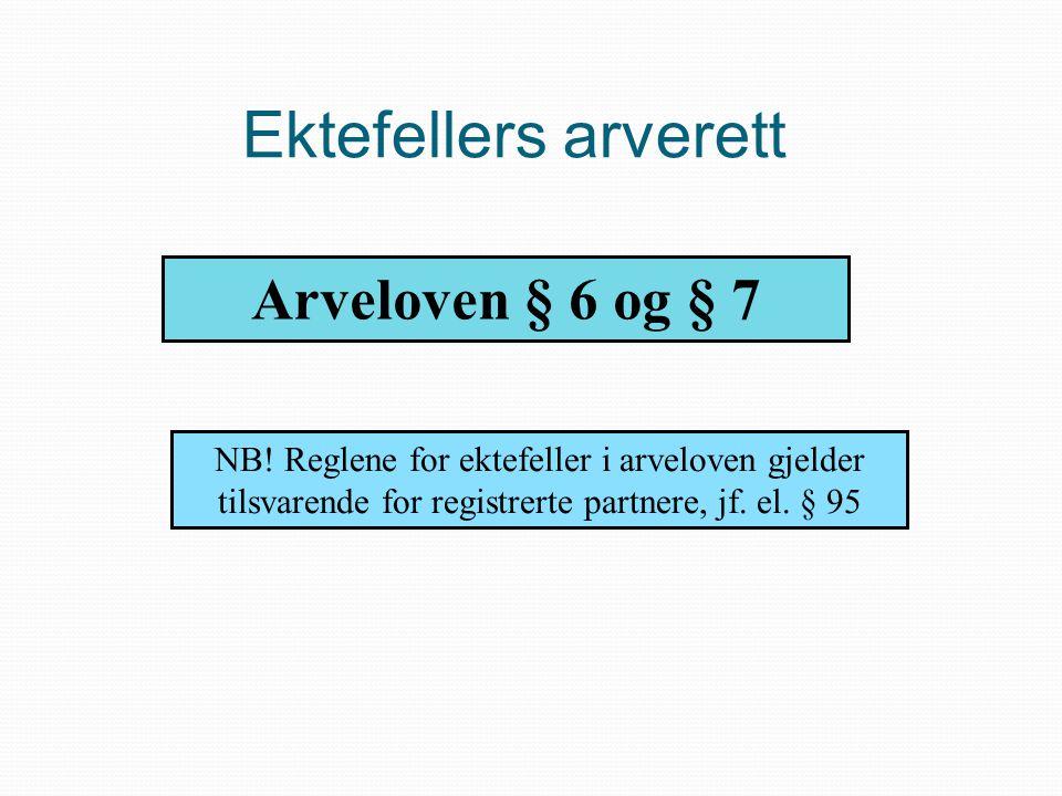 Ektefellers arverett Arveloven § 6 og § 7