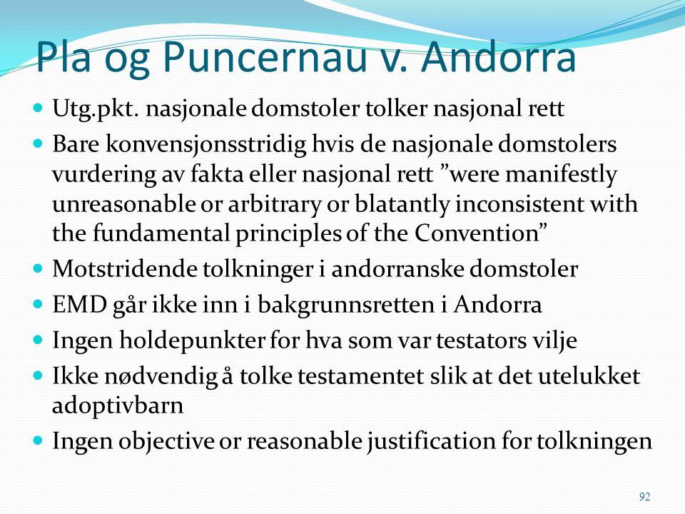 Pla og Puncernau v. Andorra