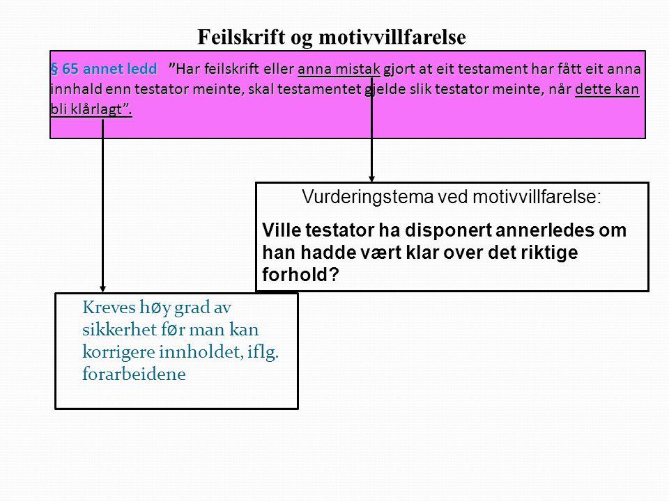 Feilskrift og motivvillfarelse
