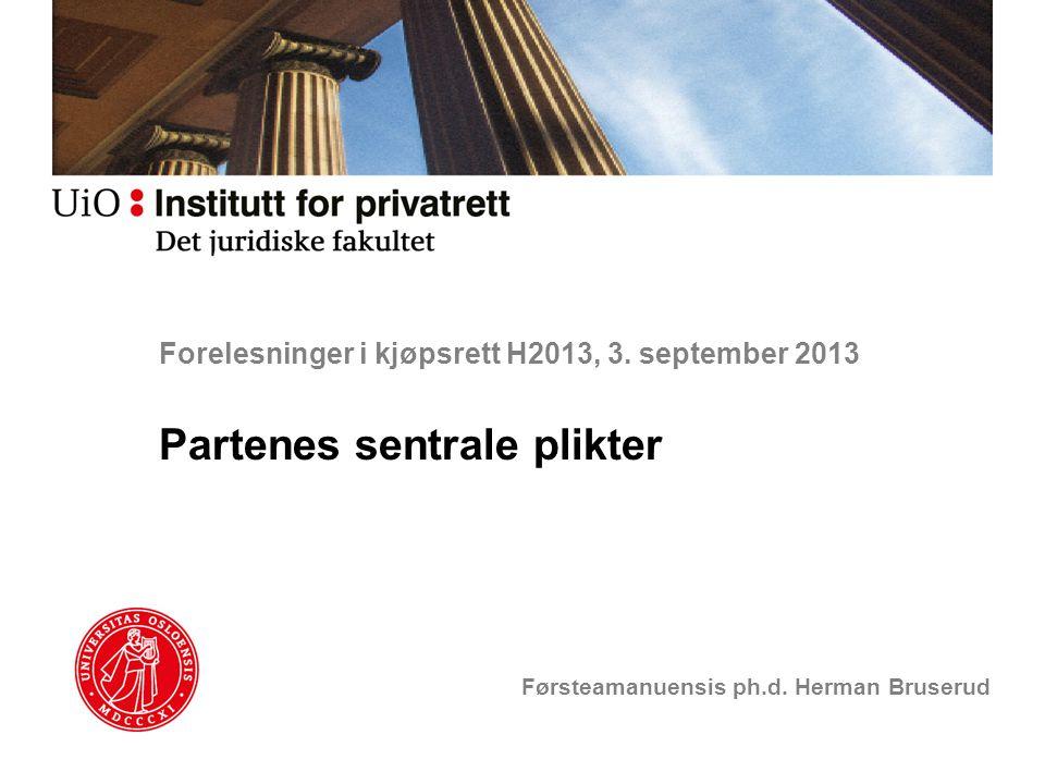 Forelesninger i kjøpsrett H2013, 3. september 2013